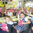 Batesville Third Graders enjoy receiving their dictionaries from our club