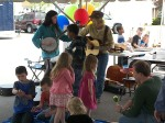 Sawdust Days entertainment at the Pioneer Living tent