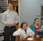 Rotarian Nick Kruthaupt distributes Interact pins